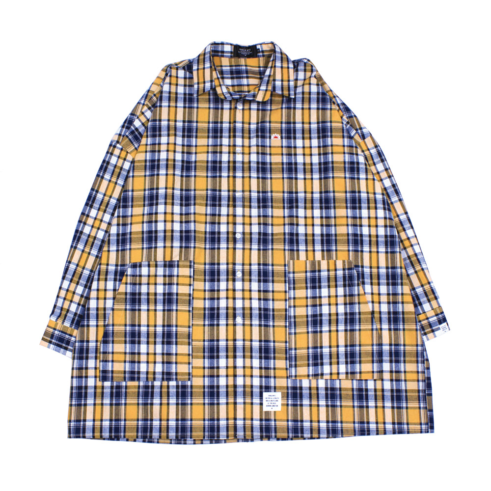 BIG silhouette GNFlannel shirt(yellow)